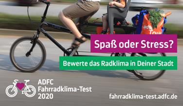 """Symbolbild zur UMfrage """"Spaß oder Stress"""" des ADFC.©Copyright Bilder: ADFC   April Agentur"""