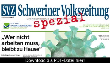 Sonderausgabe zur aktuellen Situation im Landkreis©Medienhaus Nord / Landkreis Ludwigslust-Parchim